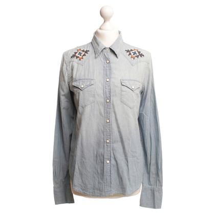 Ralph Lauren Denim overhemd met kralen