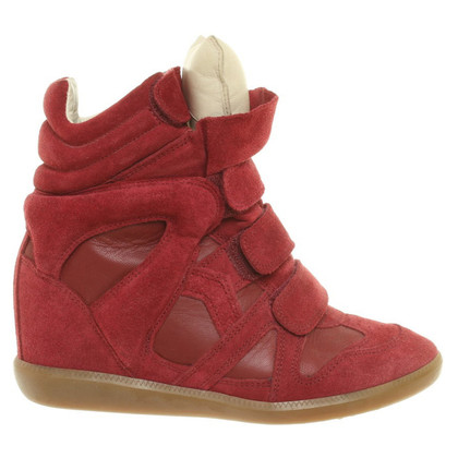 Isabel Marant Sneaker-Wedges in Bordeaux