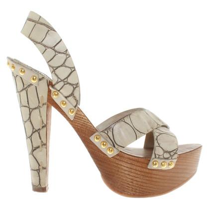 Miu Miu Sandalen met houten hak
