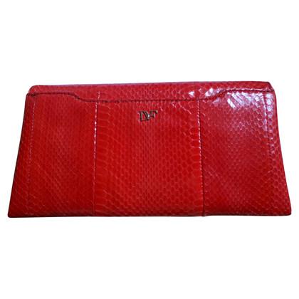 Diane von Furstenberg Lederclutch in Rot