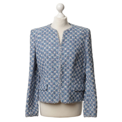 Rena Lange Bouclé jacket in light blue