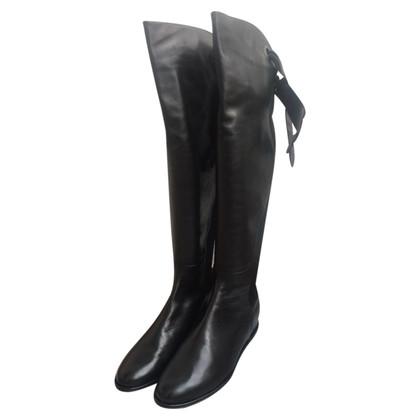 Stuart Weitzman Overknee - boots leather new GR. 39.5