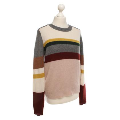 360 Sweater Kaschmirpullover mit Streifen