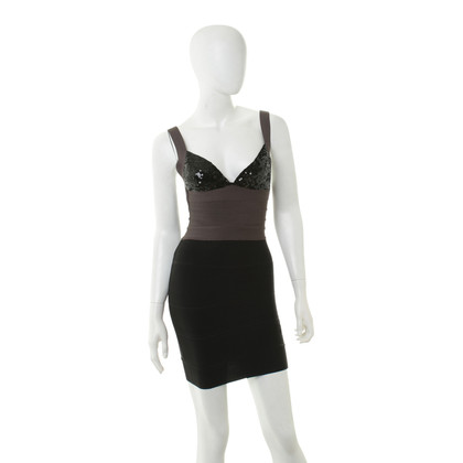Herve Leger Dress with sequin trim