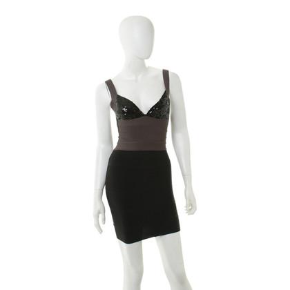 Herve Leger Kleid mit Paillettenbesatz
