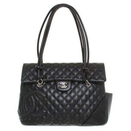 Chanel Lederen handtas met gewatteerde