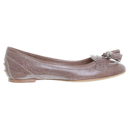 Tod's Ballerinas in reptile finish