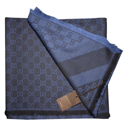 Gucci Guccissima-Tuch in Schwarz/Blau