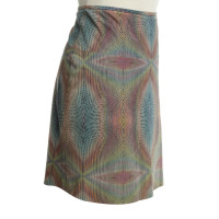 Marc Cain Leather skirt with pattern