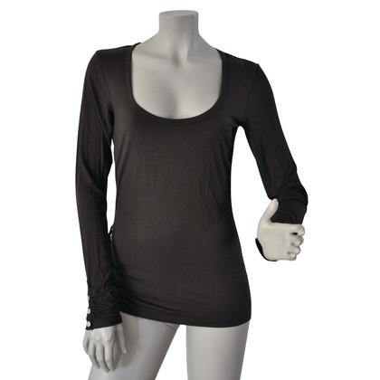 Karen Millen Lange mouwen T-shirt met ruffle