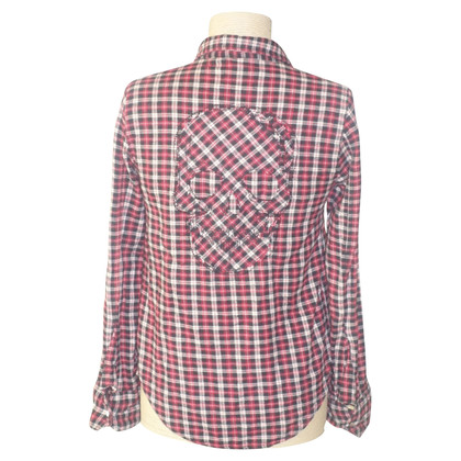 Zadig & Voltaire Shirt blouse with plaid pattern