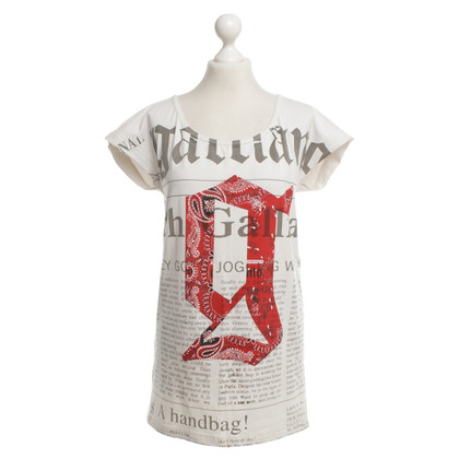 John Galliano T-Shirt mit Muster