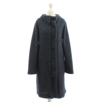 Patrizia Pepe Blue sweater coat
