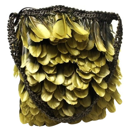 Tom Ford Shoulder bag with feather trim