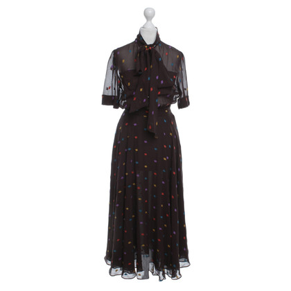 Marc by Marc Jacobs Robe en soie marron