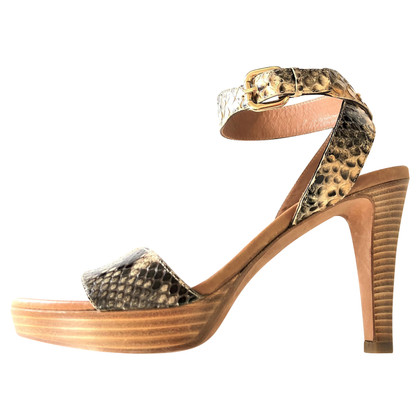 Fratelli Rossetti Sandals with python print