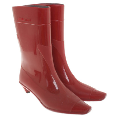 Miu Miu Rubber boots in red
