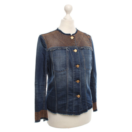 7 For All Mankind Jean jacket with rhinestone trim