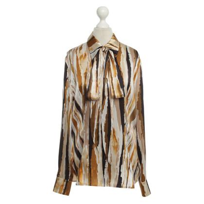 Escada Satijnen blouse met abstracte druk
