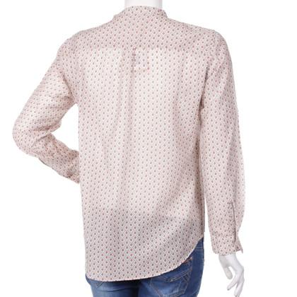 Hartford Camicia di seta in cotone a motivo