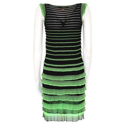 Roberto Cavalli Dress in green / black