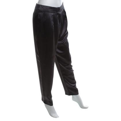 Acne Pantalon en soie en gris