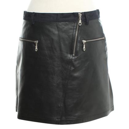Vanessa Bruno Lederen rok in zwart