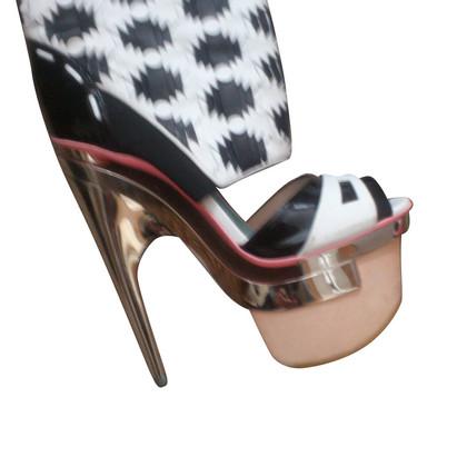Versace Plateau-Sandaletten mit Schaft