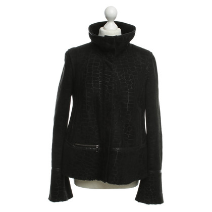 Armani Jeans Padded suede jacket