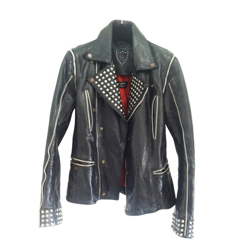 c9afe58c275c HTC Los Angeles Leather jacket with studs - Second Hand HTC Los ...