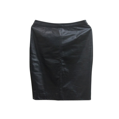 Versace Leather skirt - black
