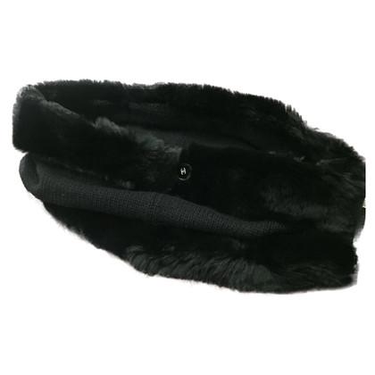 Chanel Hals-Wärmer mit Fellbesatz