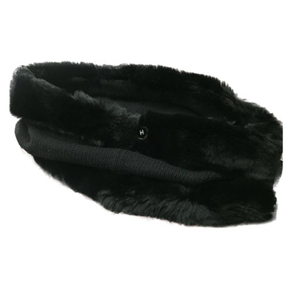 Chanel Neck warmer with fur trim