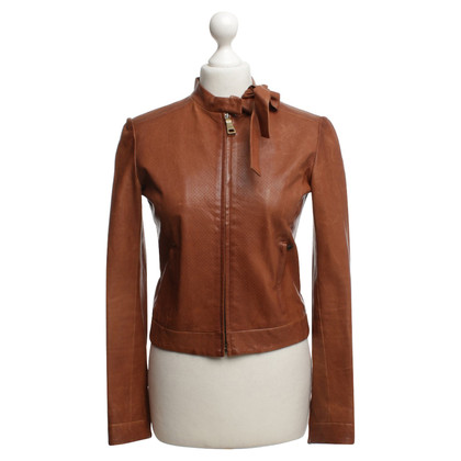 Prada Leather jacket in brown