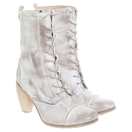 All Saints Lederstiefeletten in Beige