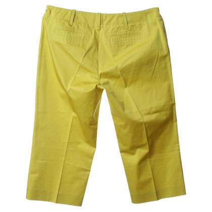 Hugo Boss 7/8 broek in groen-geel