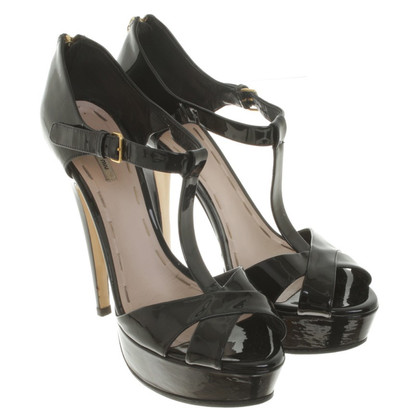 Miu Miu Black patent leather sandals