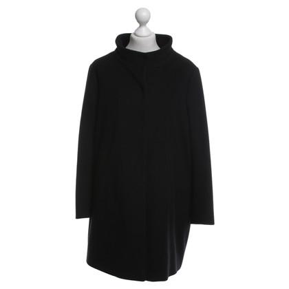 René Lezard Coat in zwart