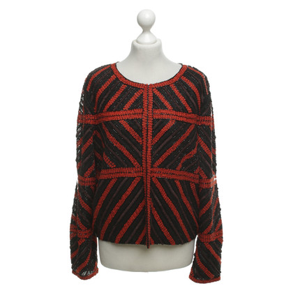 Marc Cain Jacket in black / red