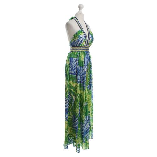 neue hohe Qualität feinste Auswahl Schnelle Lieferung BCBG Max Azria Langes Kleid mit Dschungelprint - Second Hand ...