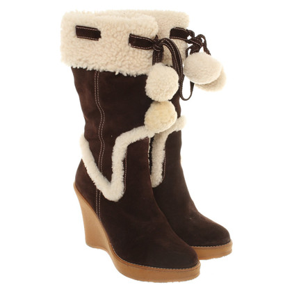 Bally Suede boots with wedge heel
