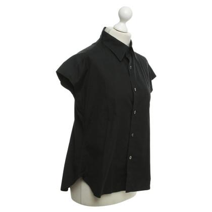 Yohji Yamamoto Short sleeve blouse in black