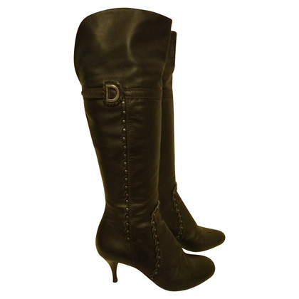 Christian Dior Christian Dior brown leather boots