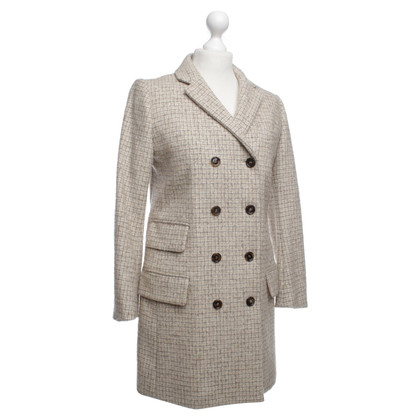 Chloé Coat with a subtle plaid pattern