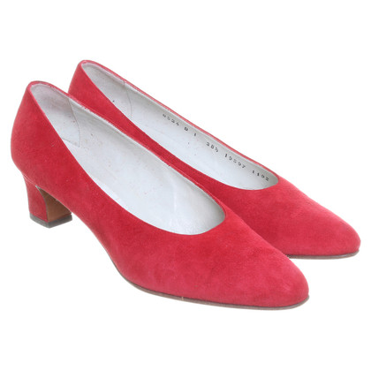 Jil Sander Wildlederpumps in Rot