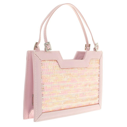 MCM clutch in pink