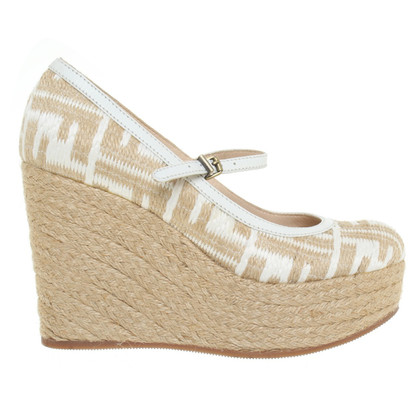 Fendi Wedges aus Bast