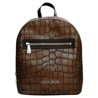 Armani Jeans Backpack in crocodile leather look