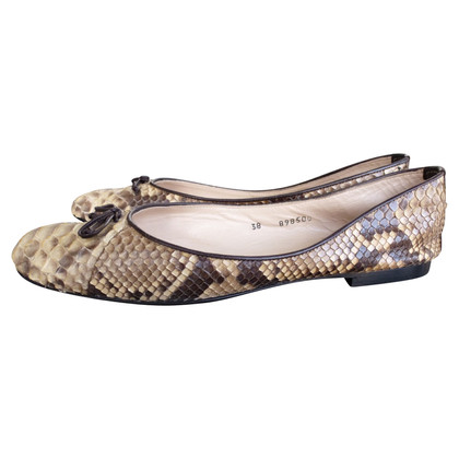 Baldinini Ballet flats made of phyton leather