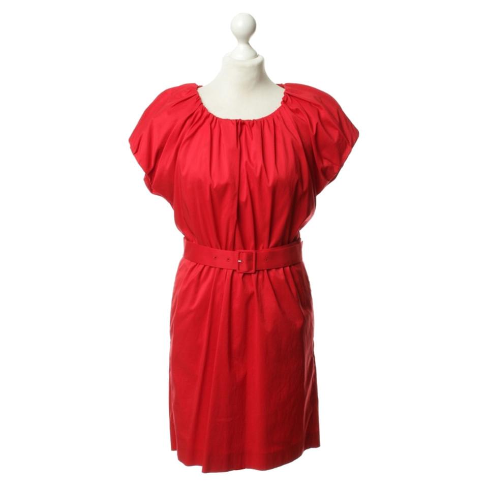 Hugo Boss HUGO BOSS Red dress with waist belt - Buy Second hand Hugo ...